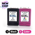 Black Color 63 XL Ink Cartridge For HP OfficeJet 3830 4650 5255 Envy 4520 4512