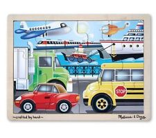 Melissa & and Doug ~ Puzzle ~ VEHICLES On the Go ~ 12 Piece ~ 3+Years ~ 30x22 cm