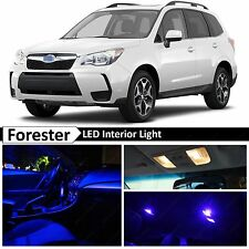 8x Blue Interior LED Lights Package Kit for 2015-2017 Subaru Forester
