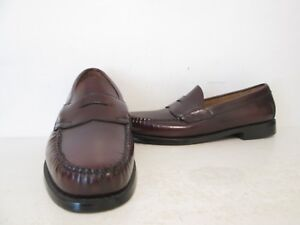 Bass Mens Logan Leather Loafers Casual Dress Shoes Burgundy Size 7 D MISMATCH