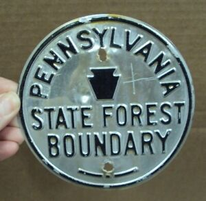"""Vtg STATE FOREST BOUNDARY Penna Game Commission LINE MARKER ~ PA 4 7/8"""""""