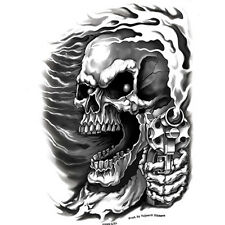 Biker motocicleta Assassin Skull Guns calavera pistolas Pegatina Sticker decal