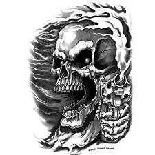 Biker Motorrad Assassin Skull Guns Totenkopf Pistolen Aufkleber Sticker Decal