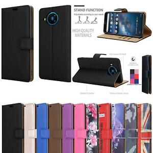 For Nokia 8.3 5G Wallet Case Leather Stand Phone Case Cover + 9H Tempered Glass