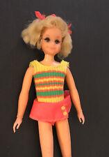 Vintage Mod Barbie Skipper LIVING FLUFF DOLL w/ Original Outfit Hair Bows