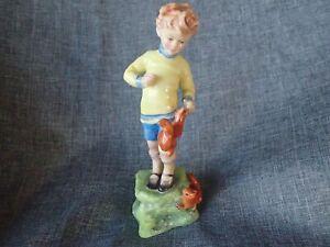 "Royal Worcester Figurine 1956 +  ""OCTOBER"" RW3417 - English Bone China"