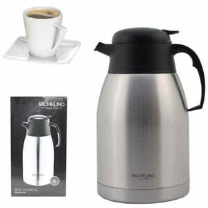 Isolierkanne 2 Liter Edelstahl Thermoskanne Kaffeekanne Teekanne Isolierflasche