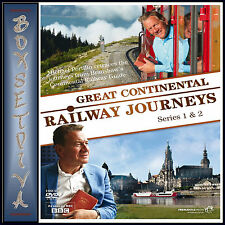 GREAT CONTINENTAL RAILWAY JOURNEYS - COMPLETE SERIES 1 & 2 *BRAND NEW DVD ***