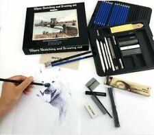 50pcs Professional Drawing Artist Sketching Kit Set Pastel Pencils and Charcoal