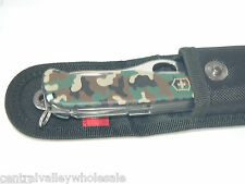 New Victorinox Swiss Army 111mm Knife CAMO ONE HAND TREKKER  NS & Pouch 54878 P