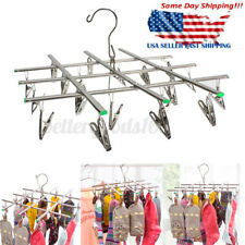 Stainless Steel 20 Clips Pegs Clothes Sock Underwear Laundry Drying Rack Hanger