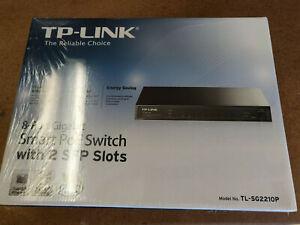 TL-SG2210P 8-port Gigabit Smart POE Switch with 2 SFP