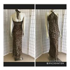 Scala Woman Cocktails Dress Tiger Style Decorate Size 10 New