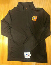 Nwt Baltimore Orioles 1/4 zip Pull Over Men's Medium Black by Majestic New