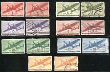 US AIRMAIL Sc# C25-C31 Twin-Motored Transport Plane Stamps Postage MINT LH  USED