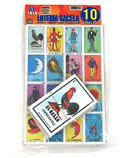 Mexican Loteria Gacela 10 Boards and Deck of Cards