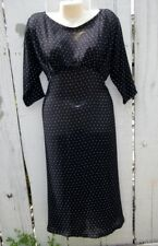 VTG 90's Street Life Dress Long Midi 40's Insp All Sheer Star Moon Print OS M L