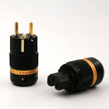 10Pairs Viborg Pure Copper Schuko Black Power Male Female Plug DIY Power Cord