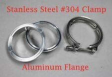 "2"" Clamp Aluminum Flanges V-Band Vband Turbo Intercooler Piping Kit w/ O-ring"