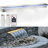 Color Changing 90cm Lighted Spillway LED Stainless SteelWall Pond Spillway