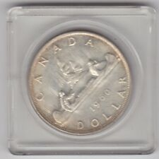 SLABBED CANADA 1960 SILVER ONE DOLLAR IN NEAR MINT CONDITION