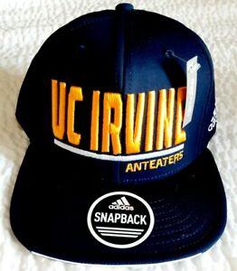 UC Irvine Anteaters Adidas Blue Snapback Flat Brim Cap/Hat New