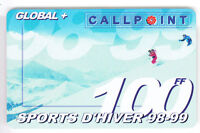 FRANCE  TELECARTE / PHONECARD  PREPAYEE ..100F CALLPOINT SKI SAISON 98-99 +N°
