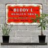 "Buddy L Toy Truck Garage Man Cave Shop Metal Sign Repro 7x12"" 60770"