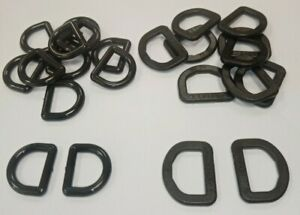 10 x D RINGS BLACK PLASTIC 2 sizes hook buckle belt bag sewing craft
