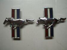 Used 2- 1994-1998 Mustang Driver's Left Tri Bar Emblem Badge Logo F4ZB-16099-AA