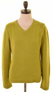 KAPPA Womens V-Neck Jumper Sweater UK 16 Large Green Merino Wool GQ08