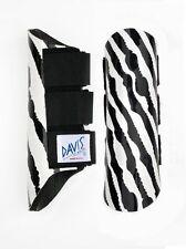 Davis Horse Boots Tendon SplintJumping Classic Protection Zebra Print Pony/Small