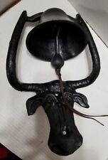Cast Iron Texas Long Horn Steer Bull Cow Farm Dinner Bell Heavy