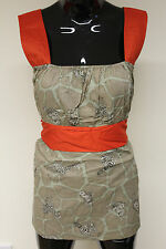 Happie Loves It contrast sash tie waist camisole top tunic dress one size