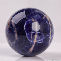 294g 62mm Large Natural Blue Sodalite Quartz Crystal Sphere Healing Ball Chakra