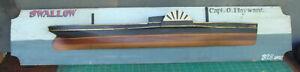 Laminated 1/2 hull model steamship sidewheeler, original paint  *
