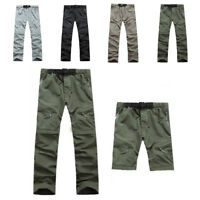Men Quick-drying Pants Outdoor Camping Hiking Breathable Trousers Detachable RT