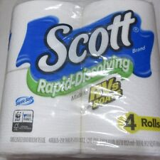 Scott Rapid-Dissolving Toilet Paper, 4 Rolls, Motorhome Rv Sewer & Septic Safe v