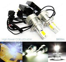 2 H4 472 Bulb High Power COB LED 7600lm 60W HeadLight Daytime Fog Light No Error