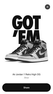 Air Jordan 1 High OG Shadow 2.0 Size 10.5 *In Hand*