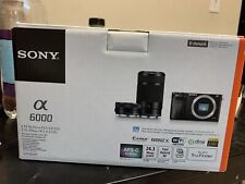 Sony Alpha A6000 24.3MP Digital Camera - Black (Kit with 16-50mm & 55-210mm...