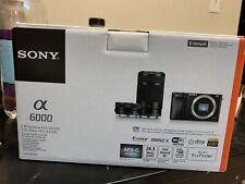 Sony Alpha A6000 24.3MP Digital Camera - Black (Kit with 16-50mm & 55-210mm...