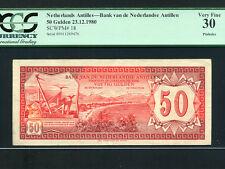 Netherlands Antilles (Curacao):P-18,50 Gulden,1980 * PCGS VF 30 * RARE ISSUE *