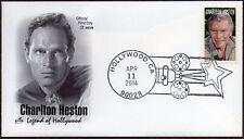 2014 CHARLTON HESTON ~ ART CRAFT CACHET~ FIRST DAY SALE HOLLYWOOD CANCEL #2
