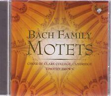 BACH| BACH FAMILY| MOTETS | Choir of Clare College, Cambrigde |CD-Album