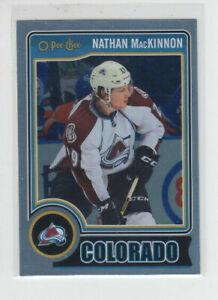 14/15 OPC Colorado Avalanche Nathan MacKinnon Rainbow Foil card #164