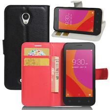 Per Lenovo K3 K5 K6 Vibe telefono FLIP Portafoglio PU Cuoio Stand Custodia Cover slot per schede