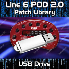 LINE 6 POD 2.0 PRE-PROGRAMMED TONES PATCHES USB - OVER 1650 GUITAR EFFECTS