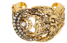 NEW Kirks Folly Moon Shadow Cuff Bracelet - GOLDTONE