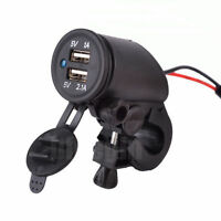 Motorcycle Dual USB Waterproof Power Supply Port Socket Charger For Mobile Phone